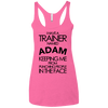 Trainer Named Adam Apparel CustomCat NL6733 Next Level Ladies' Triblend Racerback Tank Vintage Pink X-Small