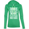 Trainers Give Me Trust Issues Hoodies Apparel CustomCat 887L Anvil Ladies' LS T-Shirt Hoodie Heather Green/Neon Yellow Small
