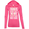 Trainers Give Me Trust Issues Hoodies Apparel CustomCat 887L Anvil Ladies' LS T-Shirt Hoodie Hot Pink/Neon Yellow Small