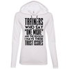 Trainers Give Me Trust Issues Hoodies Apparel CustomCat 887L Anvil Ladies' LS T-Shirt Hoodie White/Dark Grey Small