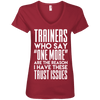 Trainers Give Me Trust Issues Tees Apparel CustomCat 88VL Anvil Ladies' V-Neck T-Shirt Independence Red Small