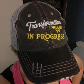 Transformation in Progress Hats CustomCat