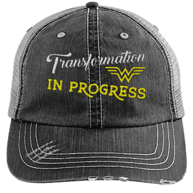 Transformation in Progress Hats CustomCat Black One Size