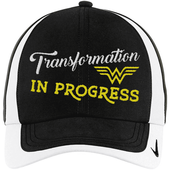 Transformation in Progress Hats CustomCat Black/White One size