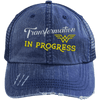 Transformation in Progress Hats CustomCat Navy One Size