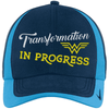 Transformation in Progress Hats CustomCat Navy/Pacific Blue One size