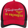Transformation in Progress Hats CustomCat Red/Black One size