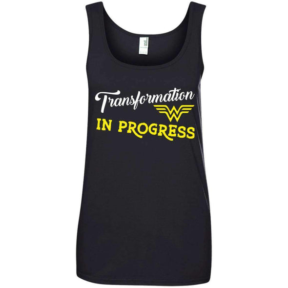 Transformation in Progress T-Shirts CustomCat Black Small