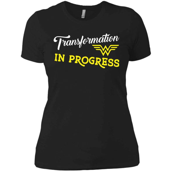 Transformation in Progress T-Shirts CustomCat Black X-Small