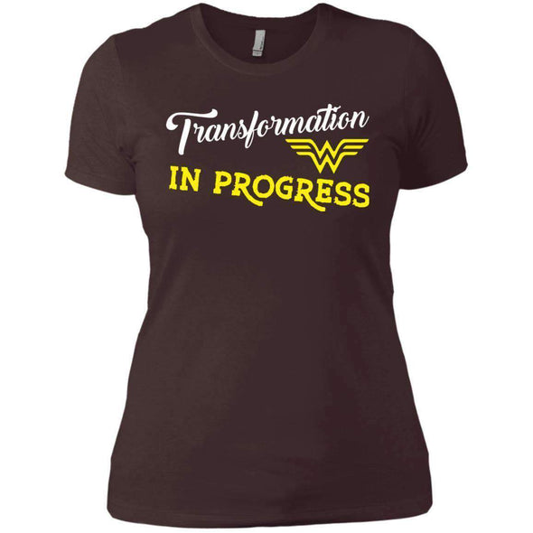 Transformation in Progress T-Shirts CustomCat Dark Chocolate X-Small