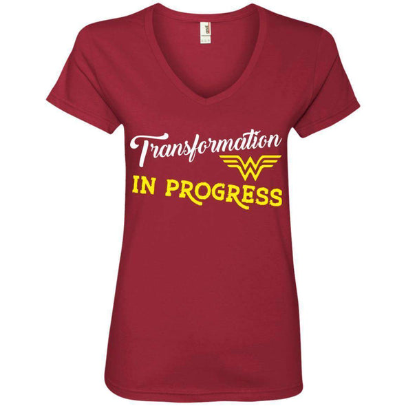 Transformation in Progress T-Shirts CustomCat Independence Red Small