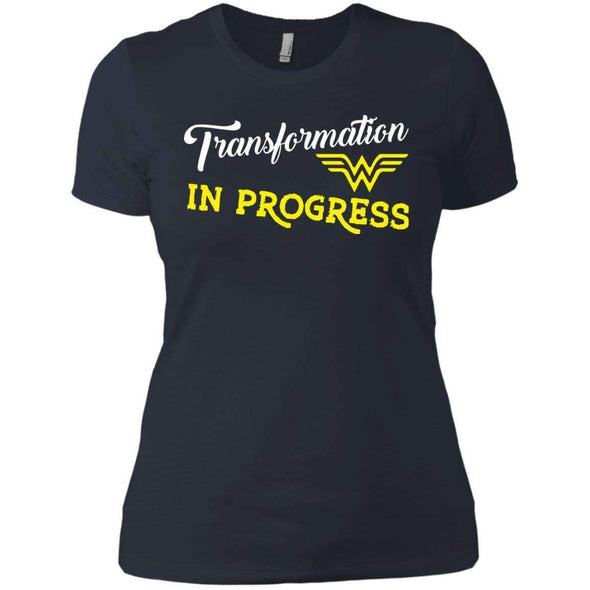 Transformation in Progress T-Shirts CustomCat Indigo X-Small