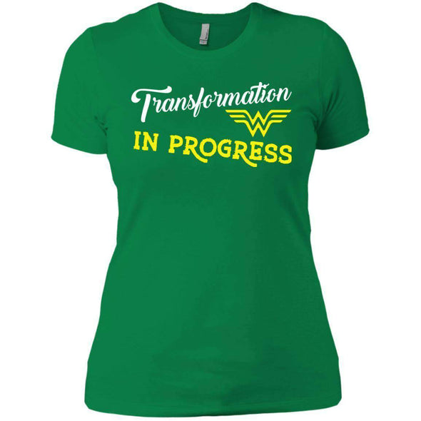 Transformation in Progress T-Shirts CustomCat Kelly Green X-Small