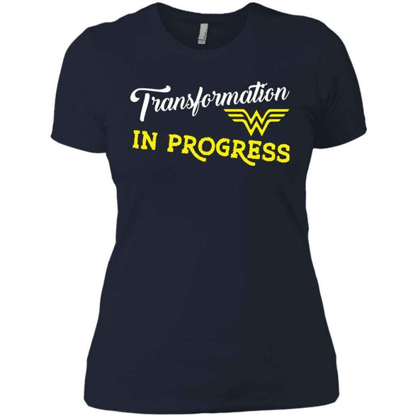 Transformation in Progress T-Shirts CustomCat Midnight Navy X-Small