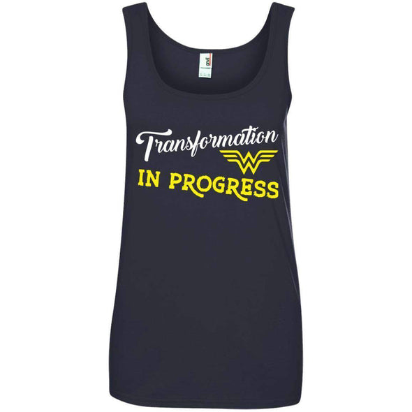 Transformation in Progress T-Shirts CustomCat Navy Small