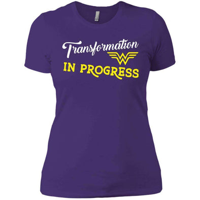 Transformation in Progress T-Shirts CustomCat Purple X-Small