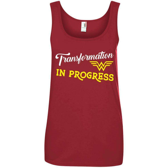 Transformation in Progress T-Shirts CustomCat Red Small