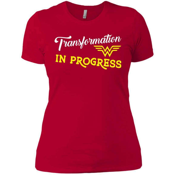 Transformation in Progress T-Shirts CustomCat Red X-Small