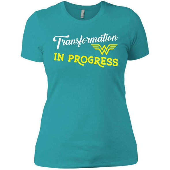 Transformation in Progress T-Shirts CustomCat Tahiti Blue X-Small