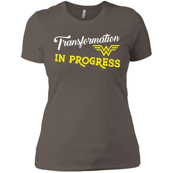 Transformation in Progress T-Shirts CustomCat Warm Grey X-Small
