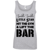 Twinkle Twinkle (Cotton Tanks) Apparel CustomCat Ladies' 100% Ringspun Cotton Tank Top Heather Grey Small