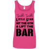 Twinkle Twinkle (Cotton Tanks) Apparel CustomCat Ladies' 100% Ringspun Cotton Tank Top Hot Pink Small