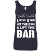 Twinkle Twinkle (Cotton Tanks) Apparel CustomCat Ladies' 100% Ringspun Cotton Tank Top Navy Small