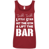 Twinkle Twinkle (Cotton Tanks) Apparel CustomCat Ladies' 100% Ringspun Cotton Tank Top Red Small
