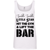 Twinkle Twinkle (Cotton Tanks) Apparel CustomCat Ladies' 100% Ringspun Cotton Tank Top White Small