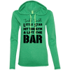 Twinkle Twinkle (Hoodies) Apparel CustomCat Ladies' LS T-Shirt Hoodie Heather Green/Neon Yellow Small