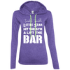 Twinkle Twinkle (Hoodies) Apparel CustomCat Ladies' LS T-Shirt Hoodie Heather Purple/Neon Yellow Small