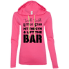 Twinkle Twinkle (Hoodies) Apparel CustomCat Ladies' LS T-Shirt Hoodie Hot Pink/Neon Yellow Small