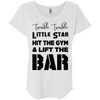 Twinkle Twinkle (Tees) Apparel CustomCat Next Level Ladies' Triblend Dolman Sleeve Heather White X-Small