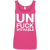 Un-Fuck-Withable Apparel CustomCat 882L Anvil Ladies' 100% Ringspun Cotton Tank Top Hot Pink Small