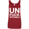 Un-Fuck-Withable Apparel CustomCat 882L Anvil Ladies' 100% Ringspun Cotton Tank Top Red Small