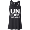 Un-Fuck-Withable Apparel CustomCat B8800 Bella + Canvas Flowy Racerback Tank Black X-Small