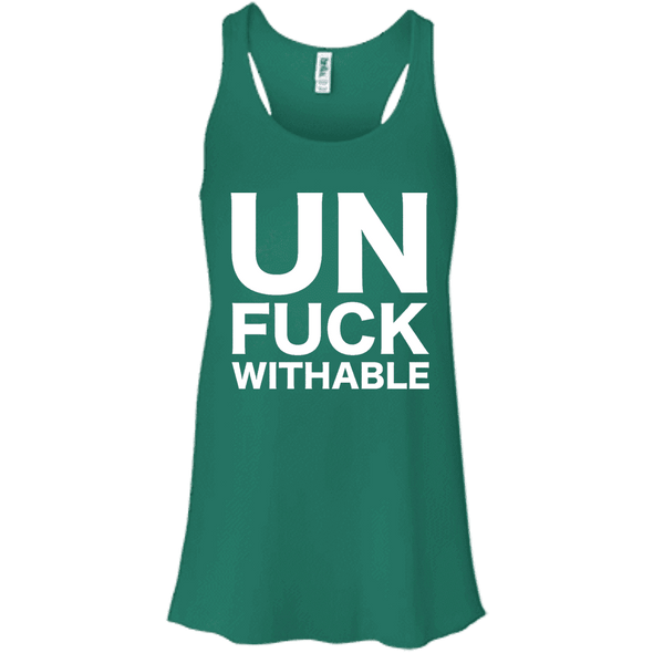 Un-Fuck-Withable Apparel CustomCat B8800 Bella + Canvas Flowy Racerback Tank Kelly X-Small