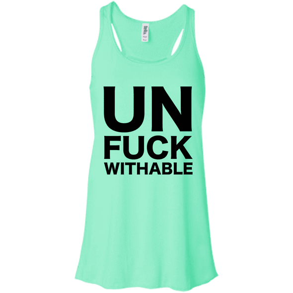 Un-Fuck-Withable Apparel CustomCat B8800 Bella + Canvas Flowy Racerback Tank Mint X-Small