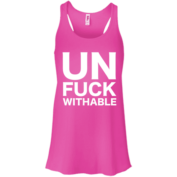 Un-Fuck-Withable Apparel CustomCat B8800 Bella + Canvas Flowy Racerback Tank Neon Pink X-Small