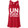 Un-Fuck-Withable Apparel CustomCat B8800 Bella + Canvas Flowy Racerback Tank Red X-Small