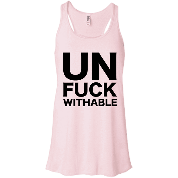 Un-Fuck-Withable Apparel CustomCat B8800 Bella + Canvas Flowy Racerback Tank Soft Pink X-Small