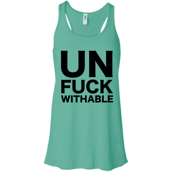 Un-Fuck-Withable Apparel CustomCat B8800 Bella + Canvas Flowy Racerback Tank Teal X-Small