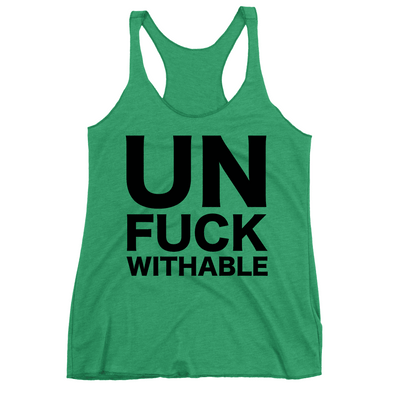 Un-Fuck-Withable Apparel CustomCat NL6733 Next Level Ladies' Triblend Racerback Tank Envy X-Small