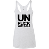 Un-Fuck-Withable Apparel CustomCat NL6733 Next Level Ladies' Triblend Racerback Tank Heather White X-Small