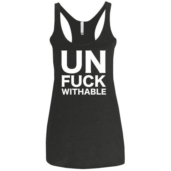 Un-Fuck-Withable Apparel CustomCat NL6733 Next Level Ladies' Triblend Racerback Tank Vintage Black X-Small