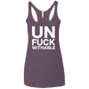 Un-Fuck-Withable Apparel CustomCat NL6733 Next Level Ladies' Triblend Racerback Tank Vintage Purple X-Small