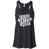 Weights Don't Lift Themselves Apparel CustomCat B8800 Bella + Canvas Flowy Racerback Tank Black X-Small