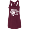 Weights Don't Lift Themselves Apparel CustomCat B8800 Bella + Canvas Flowy Racerback Tank Maroon X-Small