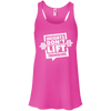 Weights Don't Lift Themselves Apparel CustomCat B8800 Bella + Canvas Flowy Racerback Tank Neon Pink X-Small