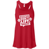 Weights Don't Lift Themselves Apparel CustomCat B8800 Bella + Canvas Flowy Racerback Tank Red X-Small
